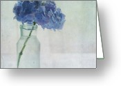 Tranquility Greeting Cards - Hydrangea Greeting Card by Jill Ferry