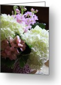 Beautiful Flowers Greeting Cards - Hydrangeas Bouquet Greeting Card by Carol Groenen