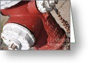 Firetruck Greeting Cards - Hydrant Greeting Card by Patti Denny