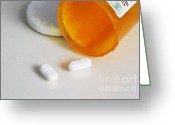Narcotic Greeting Cards - Hydrocodone Greeting Card by Photo Researchers, Inc.