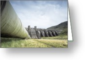 Hydroelectric Greeting Cards - Hydroelectric Dam Greeting Card by Adam Gault