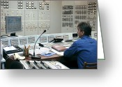 Hydroelectric Greeting Cards - Hydroelectric Power Station Control Room Greeting Card by Ria Novosti