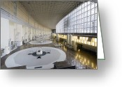 Hydroelectric Greeting Cards - Hydroelectric Power Station Turbine Room Greeting Card by Ria Novosti