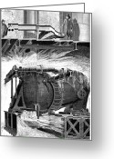 Hydroelectric Greeting Cards - Hydroelectric Turbine, 19th Century Greeting Card by 