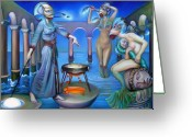 Spell Greeting Cards - Hydromedas Kitchen Greeting Card by Patrick Anthony Pierson