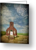 Old Country Roads Greeting Cards - Hymn Of Praise Greeting Card by Prairie Poetry