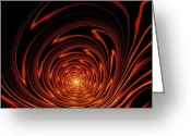 Cave Mixed Media Greeting Cards - Hypnosis Greeting Card by Anastasiya Malakhova