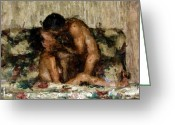 Lovers Greeting Cards - I Adore You Greeting Card by Kurt Van Wagner
