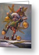 Elves Greeting Cards - I Am a Tree Greeting Card by Leonard Filgate