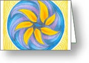 Flower. Petals Pastels Greeting Cards - I Am Blossoming Greeting Card by Ulla Mentzel