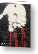 Assemblage Mixed Media Greeting Cards - I Am Greeting Card by Iain Barnes