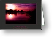 Sunset Posters Greeting Cards - I Am Inspired And I Inspire Others Greeting Card by Donna Corless