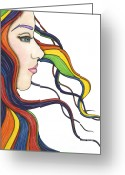 Nora Blansett Painting Greeting Cards - I Am My Own Rainbow Greeting Card by Nora Blansett
