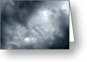 Cumulus Cloud Greeting Cards - I Am No Storm Chaser Cloud Greeting Card by Andee Photography