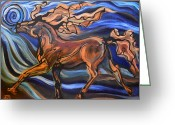 Gaited  Horse Greeting Cards - I Ball Greeting Card by Jonelle T McCoy