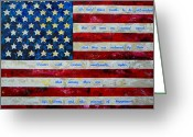 United States Flag Greeting Cards - I believe Greeting Card by Patti Schermerhorn
