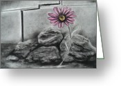 Wall Pastels Greeting Cards - I Dance Alone Greeting Card by Carla Carson