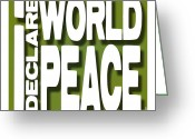 Love Your Tree Greeting Cards - I Declare World Peace Greeting Card Greeting Card by RC Gelber