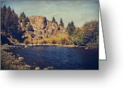 River Digital Art Greeting Cards - I Drift Away Greeting Card by Laurie Search