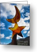 Chimes Greeting Cards - I Give you The Moon and Stars Greeting Card by Cheryl Young