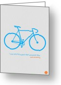 Bike Rider Greeting Cards - I Have Only Good Days And Great Days Greeting Card by Irina  March