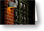 Window Panes Greeting Cards - I Left The Light On Greeting Card by Odd Jeppesen