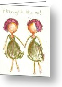 Little Girls98 Greeting Cards - I LIke Girls Like Me Greeting Card by Ricky Sencion