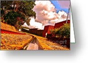Railroad Tracks Greeting Cards - I Love a Railroad Town Greeting Card by Chuck Taylor