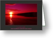 Sunset Posters Greeting Cards - I Love Life And Express Gratitude Daily Greeting Card by Donna Corless