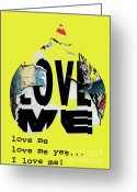 Graffiti Art For The Home Greeting Cards - I love me Greeting Card by adSpice Studios