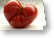 Backlit Greeting Cards - I Love Tomatoes Greeting Card by Sharon  Talson