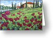 Flowers Direct Greeting Cards - I Love  Tuscany Greeting Card by Richard T Pranke