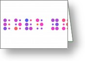 Romantic Greeting Cards - I Love You - Braille Greeting Card by Michael Tompsett
