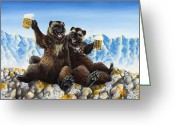 Wolverine Greeting Cards - I Love You Man Greeting Card by Beth Davies