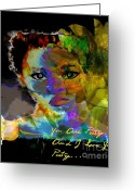 Yesayah Mixed Media Greeting Cards - I Love Your Poetry Greeting Card by Fania Simon