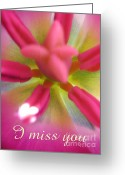 Inside You Greeting Cards - I miss you Greeting Card by Tina Marie