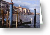 Canal Greeting Cards - I Pali Blu Greeting Card by Guido Borelli