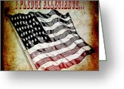 Cave Mixed Media Greeting Cards - I Pledge Allegiance Greeting Card by Angelina Vick