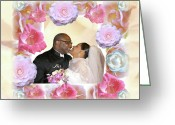 Terry Digital Art Greeting Cards - I Pronounce You Husband and Wife Greeting Card by Terry Wallace