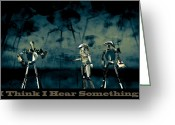 Fun Digital Art Greeting Cards - I Think I Hear Something Greeting Card by Bob Orsillo