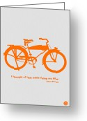 Bike Rider Greeting Cards - I Thought Of That While Riding My Bike Greeting Card by Irina  March