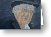 Bowler Hat Painting Greeting Cards - I Use To Be A Banker Greeting Card by Tina Karen