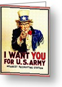 I Want You Greeting Cards - I Want You Greeting Card by Bill Cannon