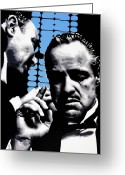 Italian American Corleone Crime Family Greeting Cards - I Want You To Kill him Greeting Card by Luis Ludzska