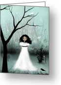 White Dress Greeting Cards - I Will Be Your Light Greeting Card by Charlene Zatloukal