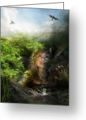 Woman Digital Art Greeting Cards - I will break free Greeting Card by Karen Koski
