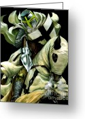 Knights Greeting Cards - I will get you Greeting Card by Valiant Knight