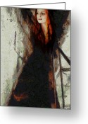 Redhead Greeting Cards - I will not let darkness conquer me Greeting Card by Gun Legler