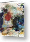 Abstract Prints Greeting Cards - I Wonder How Youd Be If Someone Tried To Call You On It Greeting Card by Michel  Keck