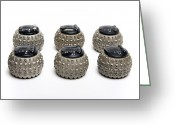 1970s Photo Greeting Cards - Ibm Selectric Typeballs, 1970s Greeting Card by Victor De Schwanberg